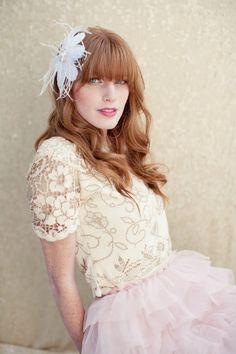 Bridal Hair Flower feather head piece bridal by LoBoheme on Etsy, $138.00