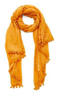 Dupatta Tasseled Cotton and Silk-Blend Sarong  by MATTA Now Available on Moda Operandi