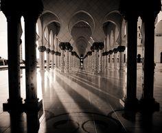 Shadow lines, Sheikh Zayed Mosque by Nasser Alkhalifi, via 500px