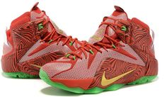 Nike Lebron 12 Green Red White Basketbal Shoe0