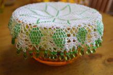 ジャグカバー beads crochet  jug cover Doilies Crochet, Beaded Crochet, Gstar, Embroidery, Beads, Cover, Inspiration, Upcycling, Tejidos