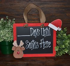 Christmas Countdown Chalkboard Christmas Decor by BlocksOfLove1