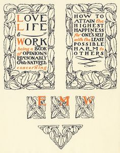 50 Best Arts Crafts Typography Images Art Nouveau Craftsman