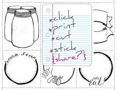 Cute Jar labels. Click on the image, not on the link to download them.