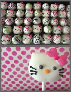 Hello Kitty Cake Balls
