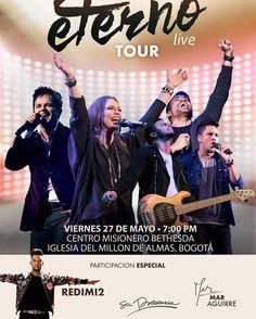 """#Repost @christinedclario  Mañana #EternoLiveTour en Bogotá Colombia! @ 7pm estaré adorando junto a @danilomontero1 y @grupobarak (con participaciones especiales de @realredimi2 @supresencia y @maraguirrerodas). Será en la sede del Centro Misionero Bethesda (""""la iglesia del millón de almas""""). No se pueden perder esta fiesta de adoración!!!  Tmrw #EternoLiveTour comes to Bogotá Colombia! @ 7pm I'll be worshiping together with friends @danilomontero1 and @grupobarak (special appearances by…"""