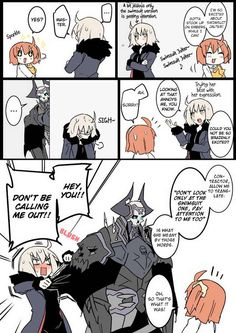 Gramps and Jeanne Alter Cute Comics, Funny Comics, Jeanne Alter, Fate Stay Night Anime, Fate Servants, Me Anime, Anime Stuff, Fate Anime Series, Minions