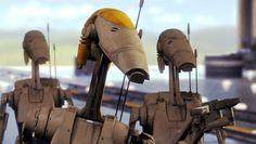'Star Wars Battlefront II' Teaser Shows Off Battle Droids Droides Star Wars, Star Wars Canon, 1 Peter, Star Wars Battle Droids, Galactic Republic, Star System, Robot Concept Art, Star Wars Poster, War Machine