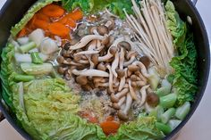 Chanko Nabe. A Japanese stew eaten by sumo wrestlers trying to gain weight! Usually contains chicken, fish, tofu and vegetables and served with beer and rice.