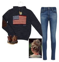 """""""USA"""" by djg-87 ❤ liked on Polyvore featuring Ralph Lauren, Sperry and AG Adriano Goldschmied"""
