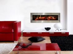Dimplex Opti-V Duet Linear Electric Firebox Dimplex Electric Fireplace, Built In Electric Fireplace, Virtual Fireplace, Realistic Electric Fireplace, Wood Burning Fires, Fireplace Design, Modern Fireplace, Three Dimensional, Decorating Your Home