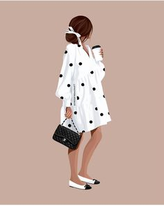 Illustration Artists, Illustrations, Fashion Design Drawings, People Art, Designs To Draw, Embroidery Patterns, Drop, Woman, Wallpaper