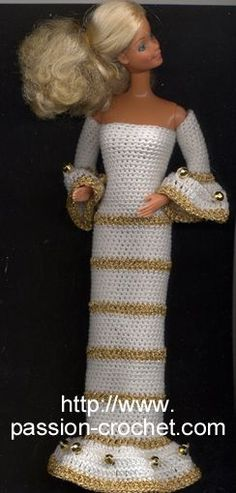 Robe de soir�e au crochet pour Barbie
