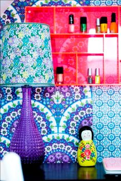 Retro Villa.... And using a cutlery tray for a little shelf for nail polishes or rings or...