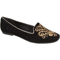 #Slipper Dakota Preto com Bordado #Dourado Preto