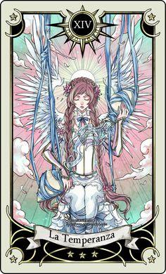 Tarot card 14- the Temperance by rann-rann.deviantart.com // luv the style!!
