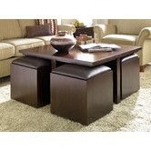 Found It At Wayfair Cubic S Coffee Table With Nested Ottomans This Is My All