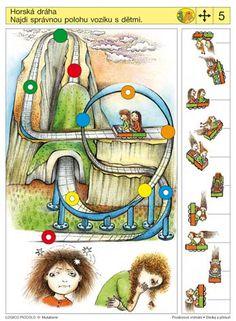 Soubor Logico Piccolo - Prostorové vnímání Sleduj a přesuň Vhodné pro děti od 5 - 8 let*Kam směřují palce, tam směřuje inos – nalezení shody mezi postavením* Různé směry pohledu*Všechno se Brain Activities, Classroom Activities, Following Directions, Kindergarten Worksheets, Acer, Speech Therapy, Playroom, Preschool, Nursery