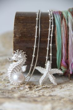 sea-horse and starfish, silver and pearl (Farfalla beauty by nature, Ruedenplatz 4, Zurich)