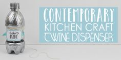 If you love crafting you'll love our contemporary kitchen craft series. It's a matching set of kitchen containers and dispensers upcycled from soda bottles! Crafts With Glass Jars, Mason Jar Crafts, Bottle Crafts, Tinting Jars, Kitchen Containers, Painted Mason Jars, Diy Bed, Easy Diy Crafts, Kitchen Craft