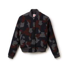 Regular Fit Lacoste LiVE-Teddy-Jacke aus Jacquard mit grafischem Muster