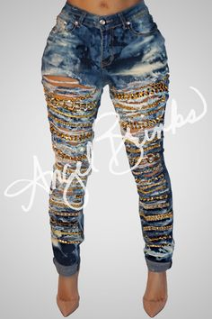 Chain Reaction Jeans | Shop Angel Brinks on Angel Brinks