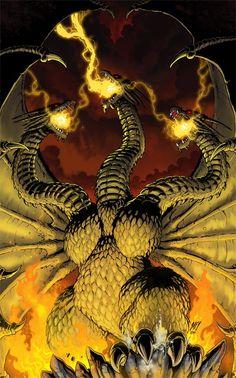 King Ghidorah: Godzilla's arch-enemey