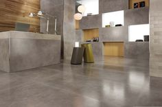 Minoli Tiles - DreamWell - DreamWell Gray Lappato by #Minoli is a genuine porcelain tile reproduction of honed concrete. This porcelain will ensure an ease maintenance and the contemporary look to your project. Floor tiles: DreamWell Grey Lappato 75 x 150 cm - https://www.minoli.co.uk/tiles/dreamwell-gray/ - #miniolitiles #porcelain #tile #porcelaintile #tiles #porcelaintiles #concrete #look #concretelook #effect #concreteeffect #DreamWell #grey #gray #lappato #polished #honed