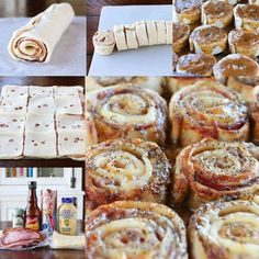 Hot Ham & Cheese Party Rolls..these are the BEST Super Bowl Football Party Food & Recipe Ideas!