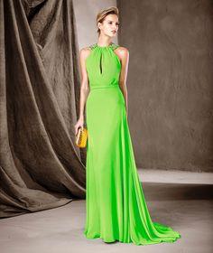 CATALINA - Vestido de festa com decote halter | Pronovias
