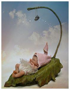 An elfen babe . Fairy Dust, Fairy Land, Magical Creatures, Fantasy Creatures, Fairy Pictures, Kid Pictures, Elves And Fairies, Baby Fairy, Fairy Dolls