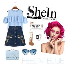 """feeeeeelin' bluuueee"" by itstyrell on Polyvore featuring Topshop, Steve Madden and The Cambridge Satchel Company"