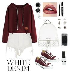 """""""Untitled #1139"""" by dbellz ❤ liked on Polyvore featuring River Island, Converse, MICHAEL Michael Kors, Givenchy, Marc Jacobs, Miss Selfridge, LMNT and Hot Topic"""