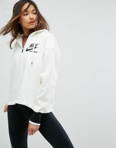 88f0701b3853 Nike - Archive - Hoodie à encolure zippée - Crème
