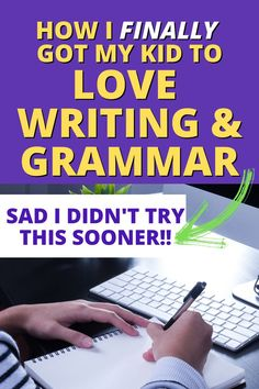 Need writing for kids who hate writing or have trouble with spelling and grammar lessons? TRY THIS when grammar lessons and grammar worksheets aren't working and your child hates writing! #writinglessons #writingtools #homeschoolresources #homeschoolingcurriculum #lessonplans Grammar Tips, Spelling And Grammar, Grammar Lessons, Writing Lessons, Teaching Writing, Teaching Tips, Grammar Worksheets, Teacher Lesson Plans, Free Lesson Plans