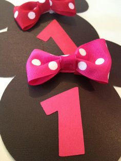Minnie Mouse Party Favor Bows 8 Count Pink by PicturePerfectParty, $14.00