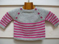 /! This listing is for a pdf pattern in french. (english version also available in the shop)  The pattern is also available on Ravelry    Langoz is a seamless baby sweater knit in the round from the top down. The upper back and front are worked flat, then pieces are joined and the striped body is knitted in the round. Sleeves are put on holders before being knitted in the round as well.  The name Langoz comes from a beach in Loctudy, at the west of Brittany, in France. The pattern is…