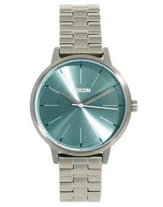 Nixon Silver Bracelet Watch with Mint Tea Face