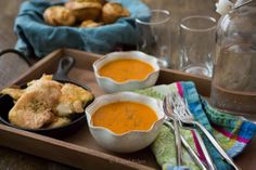Creamy Tomato Soup with Dairy Free Yorkshire Puddings | healthy soups + stews + broth recipes
