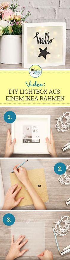 Ikea picture frames: From the Ikea Ribba frame to the trendy Light Box We show the . - Ikea picture frame: From the Ikea Ribba frame to the trendy light box We show you how you can make - Marco Diy, Marco Ikea, Ikea Photo Frames, Ikea Picture Frame, Cadre Photo Diy, Fun Crafts, Diy And Crafts, Frame Crafts, Baby Crafts