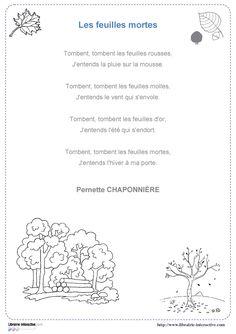 20 poésies illustrées sur le thème de l'automne à apprendre du CP au CM2