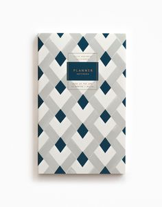 Gold Foil Any-Year Daily Planner - Diamond Plaid