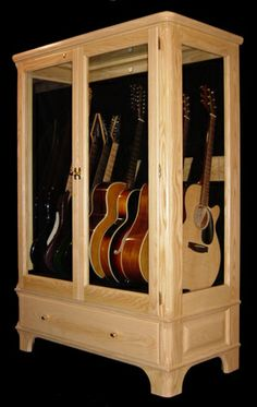 guitar closet - glass display
