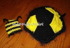Buzzy Bee Photo Prop - Free by Tanya Naser of Hodge Podge Crochet / Bees - Animal Crochet Pattern Round Up - Rebeckah's Treasures
