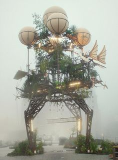 "The world-famous French group of artists ""La Machine"" installed this steampunk…"