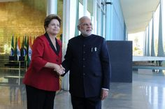 PM Narendra Modi with President Dilma Rousseff