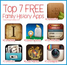 Top 7 Free Family History Apps for iPad, iPhone, Blackberry, or Android ~ Teach Me Genealogy