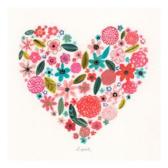 Found it at Wayfair - Painted Heart Canvas Art