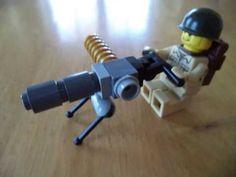 How to make LEGO stuff ( mortar, radio backpack, Machine Gun) Lego Ww2, Lego Army, Lego Robot, Lego Military, Lego Bionicle, Lego Mecha, Easy Lego Creations, Pokemon Lego, Lego Custom Minifigures