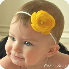 Baby Headband - ok precious !!! put a Easter chick in the middle ???